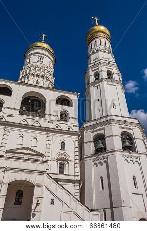 Cathedral Square Of Moscow Kremlin In Russia