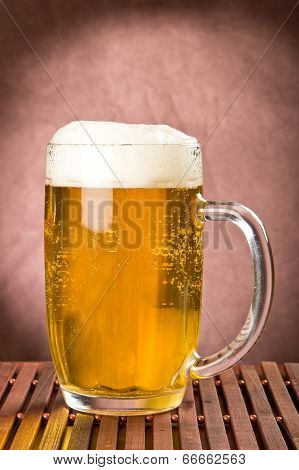 Golden Light Beer In Mug