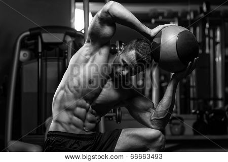 Abdominal Exercise With Medical Ball