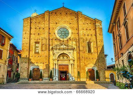 Facade Of The Cathedral In Salo, Lake Garda, Italy