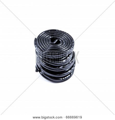Column Of Black Licorice Wheels
