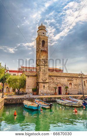 Church Of San Nicolo', Lazise, Lake Garda, Italy
