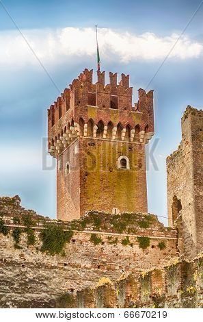 Scaliger Castle At Lazise, Lake Garda, Italy