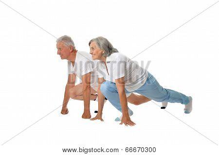 Portrait of  Elder  Couple