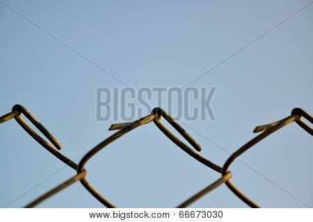 wire fence closeup