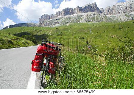 Passo Pordoi, Dolomites: A Bicycle