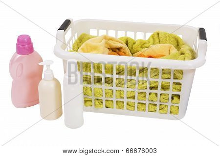 Wash Colored Laundry (isolated)