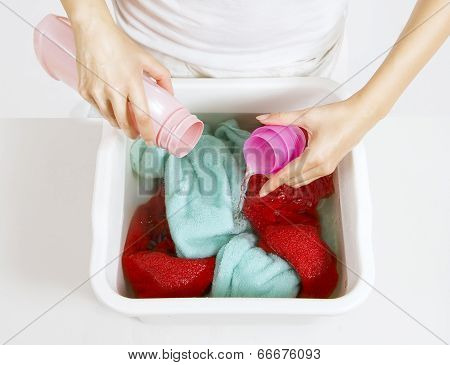 Rinsing Of Laundry