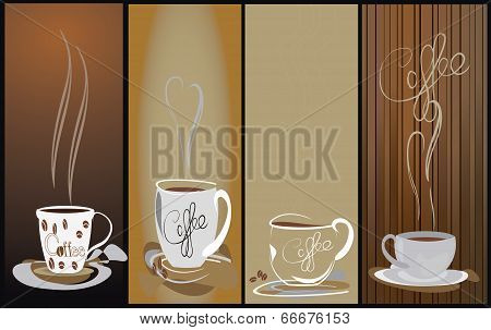 4 Coffee cup background
