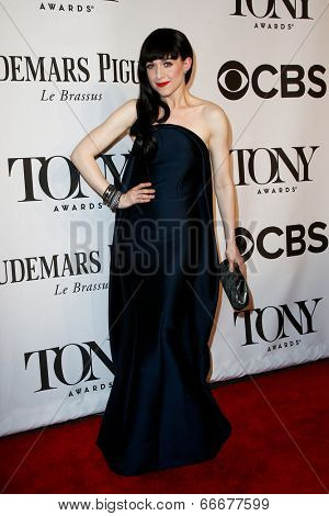 NEW YORK-JUNE 8: Actress Lena Hall attends American Theatre Wing's 68th Annual Tony Awards at Radio City Music Hall on June 8, 2014 in New York City.