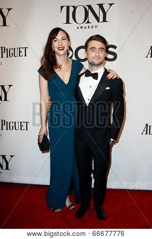 NEW YORK-JUNE 8: Actress Erin Darke (L) and Daniel Radcliffe attend American Theatre Wing's 68th Annual Tony Awards at Radio City Music Hall on June 8, 2014 in New York City.