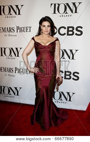 NEW YORK-JUNE 8: Actress Idina Menzel attends American Theatre Wing's 68th Annual Tony Awards at Radio City Music Hall on June 8, 2014 in New York City.