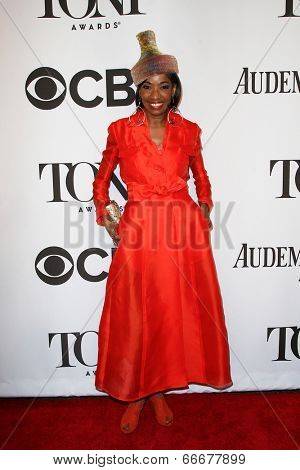NEW YORK-JUNE 8: Actress Adriane Lenox attends American Theatre Wing's 68th Annual Tony Awards at Radio City Music Hall on June 8, 2014 in New York City.