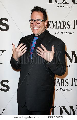 NEW YORK-JUNE 8: Director Michael Mayer attends American Theatre Wing's 68th Annual Tony Awards at Radio City Music Hall on June 8, 2014 in New York City.