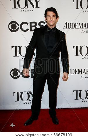 NEW YORK-JUNE 8: Actor Andy Karl attends American Theatre Wing's 68th Annual Tony Awards at Radio City Music Hall on June 8, 2014 in New York City.