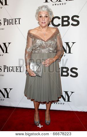 NEW YORK-JUNE 8: Actress Tyne Daly attends American Theatre Wing's 68th Annual Tony Awards at Radio City Music Hall on June 8, 2014 in New York City.