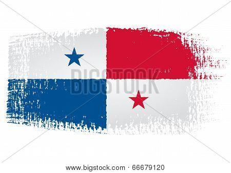 Brushstroke Flag Panama