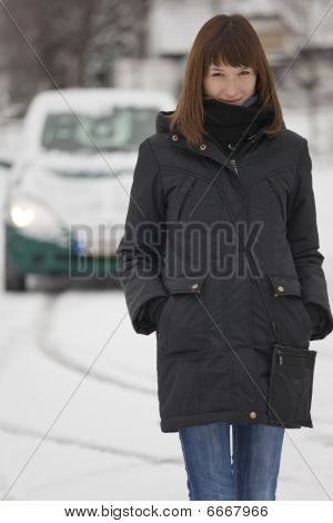 Woman And Car