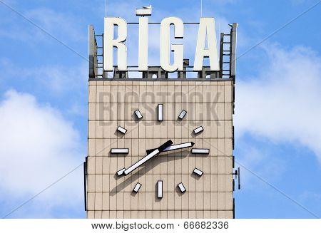 Central Clock In Riga