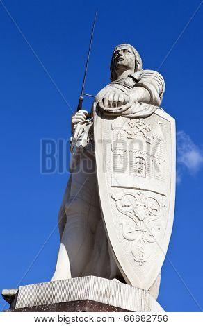 St. Roland Statue In Riga