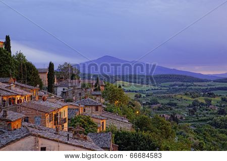Ancient houses in Pienza