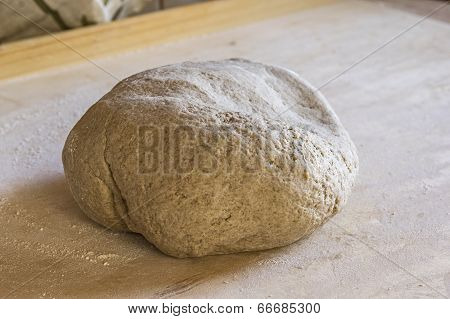 Raw bread loaf