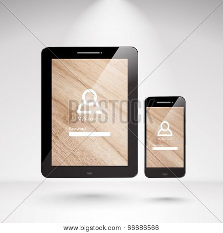 Vector Realistic Smartphone and Tablet.
