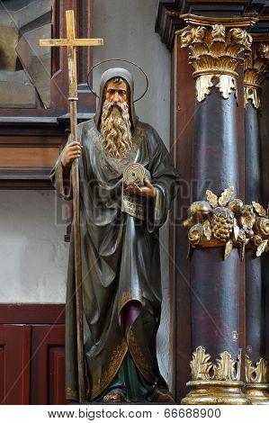 Saint Cyril baroque sculpture