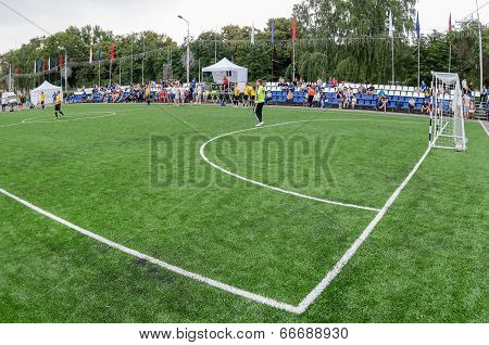 Samara, Russia - June 12, 2014: Tournament On Mini-football On City Square