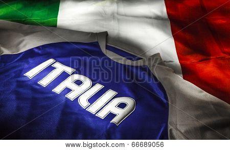 Italian Flag And T-shirt