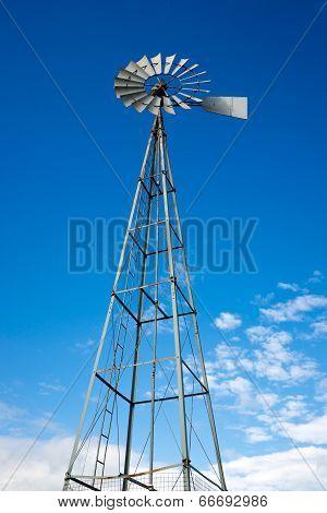 Tall Water Pumping Windmill