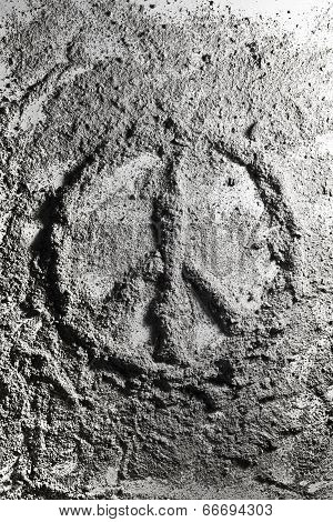 Peace Sign Made Of Ash