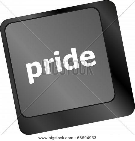 Computer Keyboard Key With Pride Word
