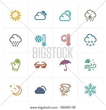 Weather Icons - Colored Series