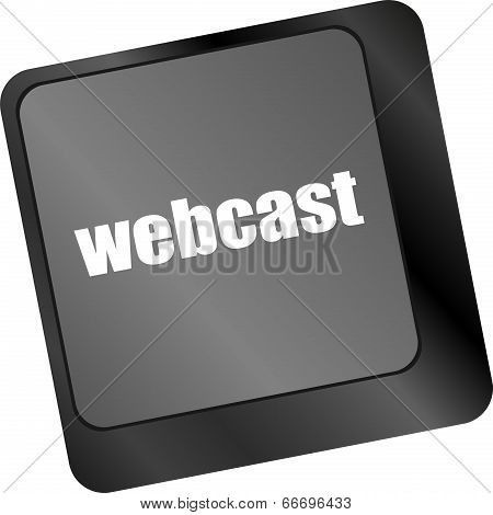 Keyboard Key With Webcast Web Button