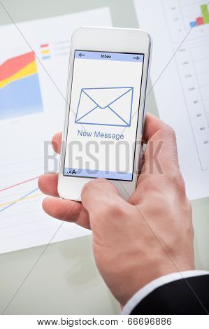 New Email Message Icon On A Mobile Phone
