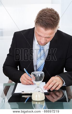 Businessman Under Time Pressure