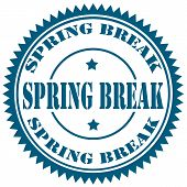 picture of spring break  - Rubber stamp with text Spring Break - JPG