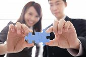 stock photo of jigsaw  - Teamwork  - JPG