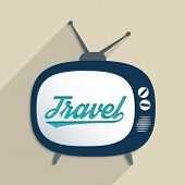 stock photo of televisor  - Concept for travel industry exploration and travel culture - JPG