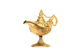 foto of aladdin  - Ornate Magic lamp of Aladdin isolated on white background - JPG