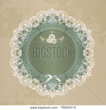 Gift card with lace ornament