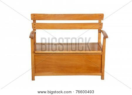 Childs Wooden Bench With Storage Compartment Under Seat