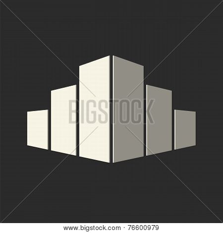 Real estate conceptual logo icon