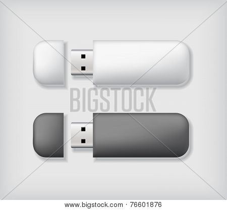 Two usb memory sticks mockup