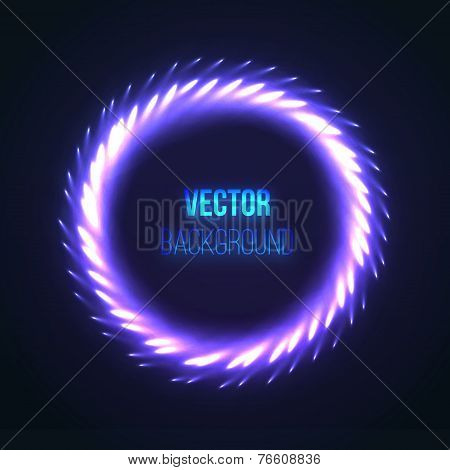 Abstract Colorful Firework Lights. Vector illustration