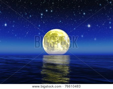 Moon.Elements of this image furnished by NASA.
