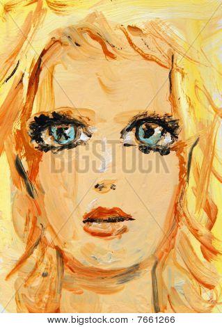 Blue Eyed Blonde Woman