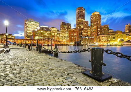 Boston, Massachusetts, USA Skyline at Fan Pier.