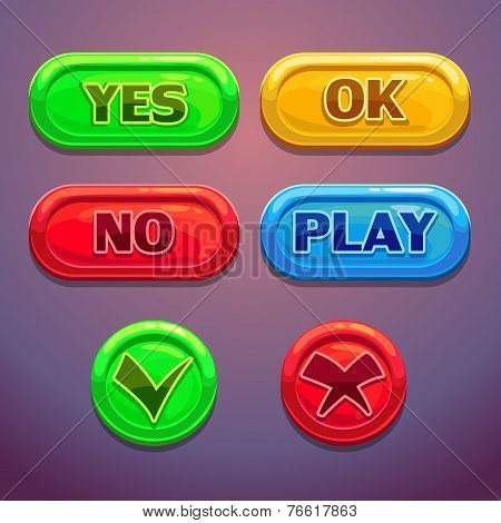 Buttons for game or web design